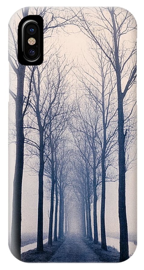 Graphic IPhone X Case featuring the photograph Nesserlaan by David Halperin
