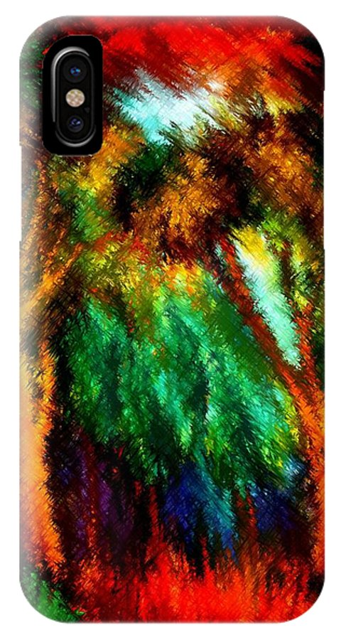 Forest IPhone X Case featuring the painting net by Rafi Talby
