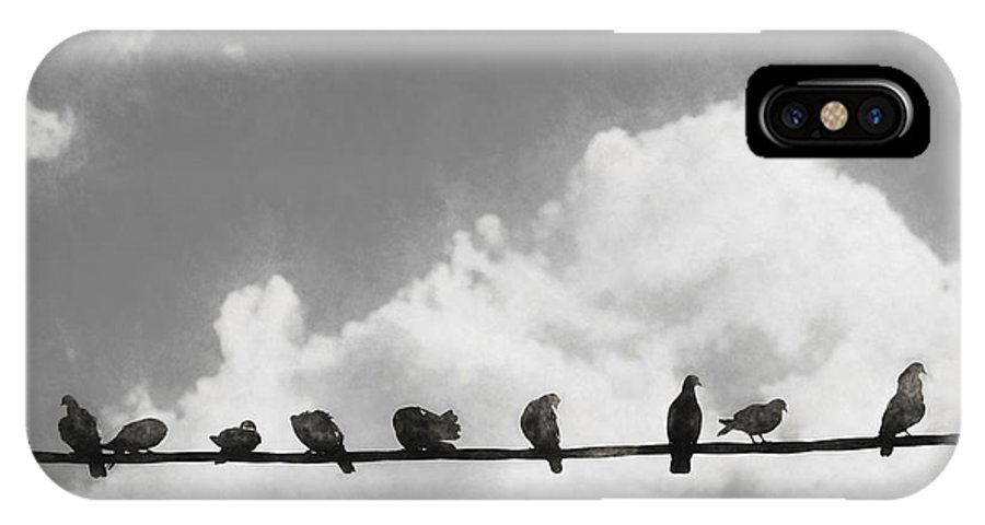 Line IPhone X / XS Case featuring the digital art Network Of The Bird Line by Jorgo Photography - Wall Art Gallery