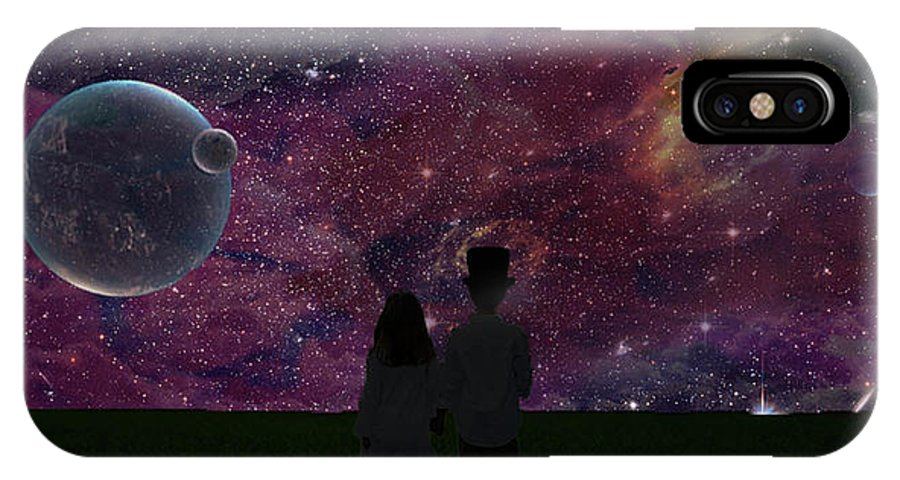 Digital Art IPhone X Case featuring the digital art Never Alone Part 2 by Roy Peak