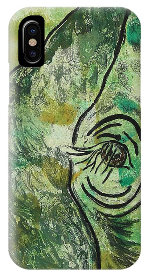 Monotype IPhone Case featuring the mixed media Never Forgotten by Cori Solomon