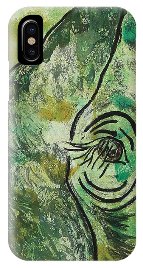 Monotype IPhone X Case featuring the mixed media Never Forgotten by Cori Solomon