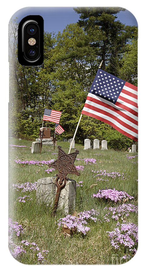 Veteran IPhone Case featuring the photograph New England Graveyard by Erin Paul Donovan