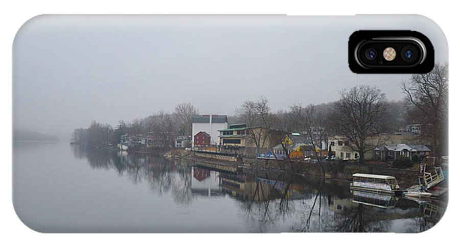 New IPhone X Case featuring the photograph New Hope River View On A Misty Day by Bill Cannon