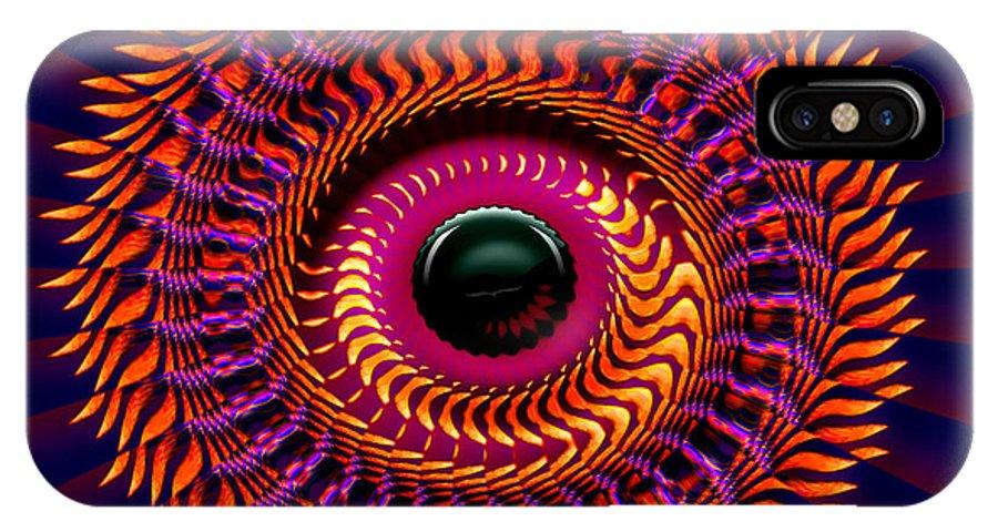 Sun IPhone X Case featuring the digital art New Horizon by Robert Orinski
