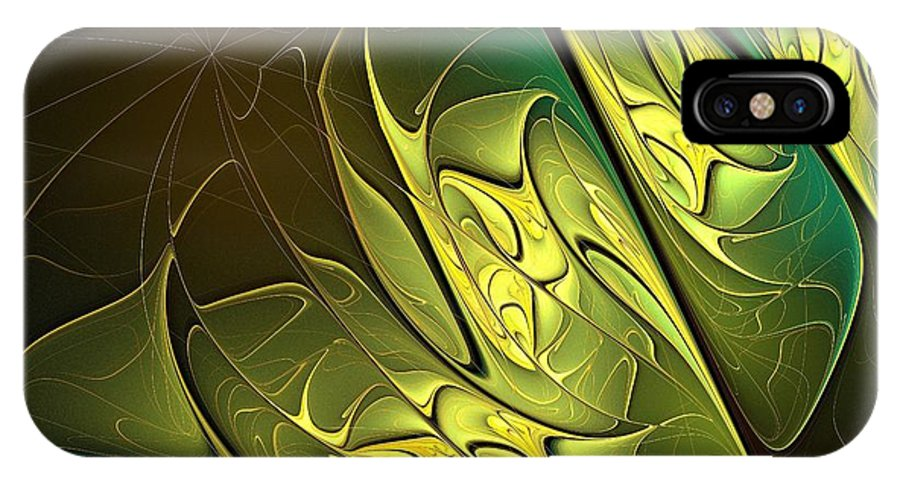Digital Art IPhone X Case featuring the digital art New Leaves by Amanda Moore