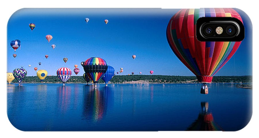 Hot Air Balloon IPhone X Case featuring the photograph New Mexico Hot Air Balloons by Jerry McElroy