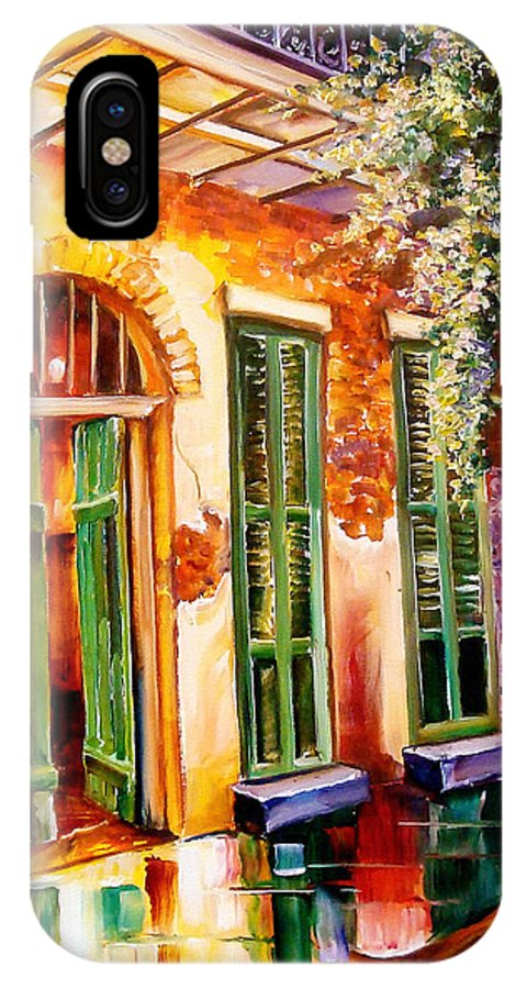 New Orleans IPhone X Case featuring the painting New Orleans Mystery by Diane Millsap