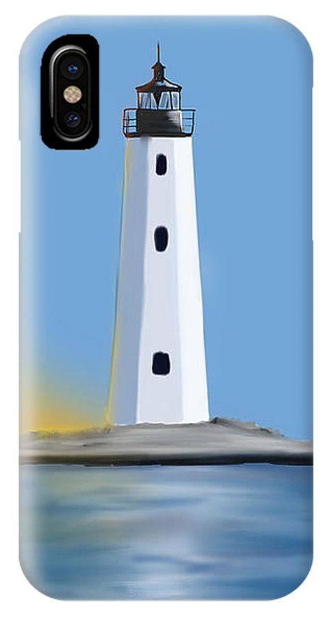 Light IPhone X Case featuring the digital art New Point Comfort Light by Justin Canose