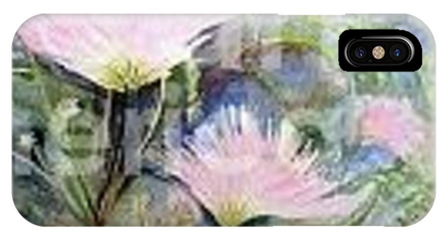Mimosa IPhone X Case featuring the painting Mimosa by Marie Brumbach