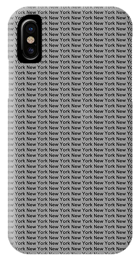 New York IPhone X / XS Case featuring the digital art New York No 4 by LogCabinCottage