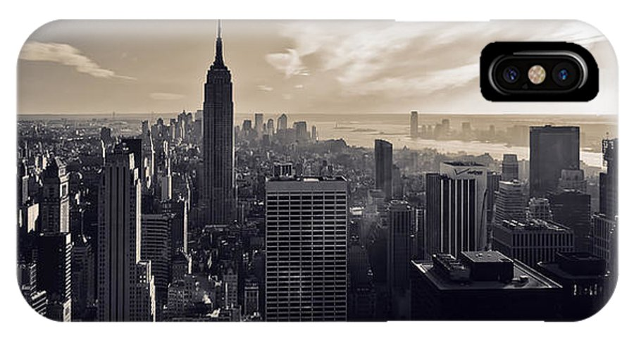 New York IPhone X Case featuring the photograph New York by Dave Bowman