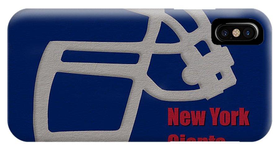 Giants IPhone X Case featuring the photograph New York Giants Retro by Joe Hamilton