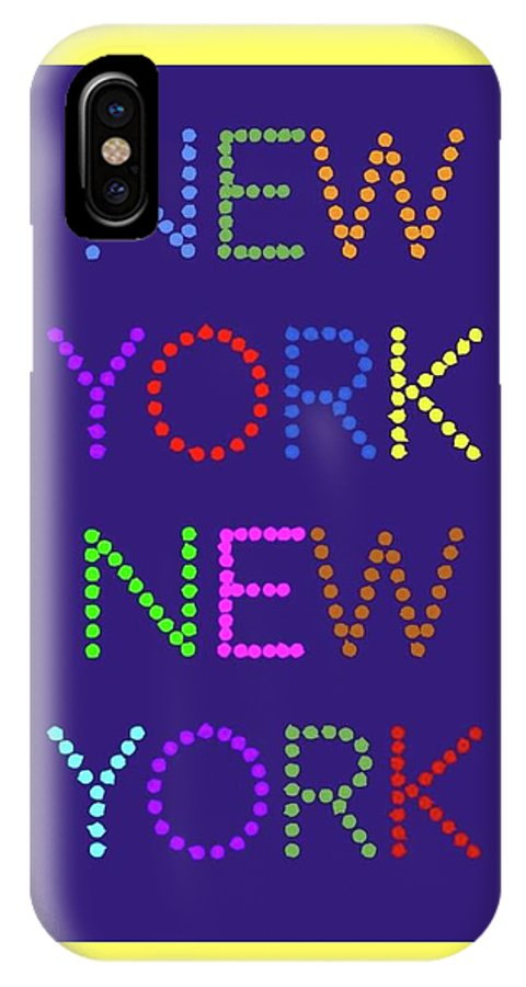 New York IPhone X / XS Case featuring the digital art New York No 5 by LogCabinCottage