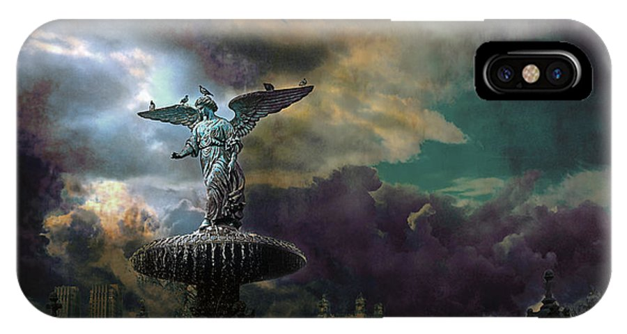 New York IPhone X Case featuring the photograph New York Series Number 3 by Jeff Burgess