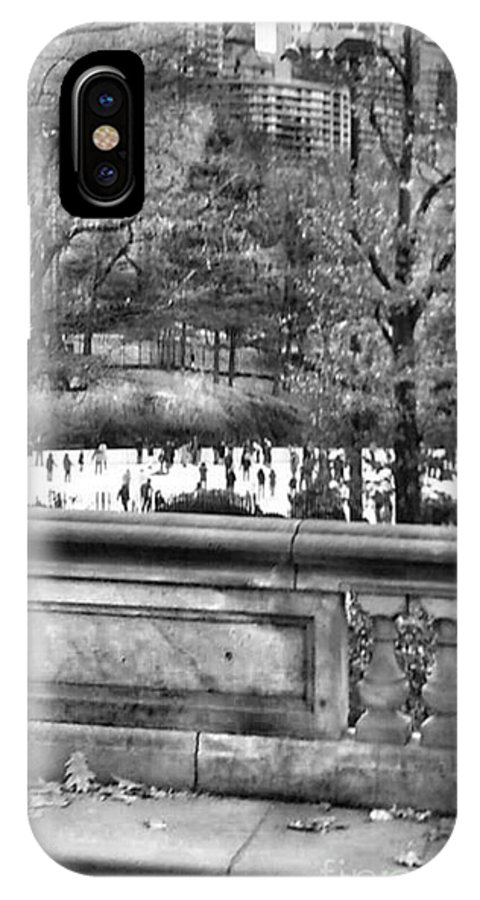 New York IPhone X Case featuring the photograph New York Skating by Tanya Reavis