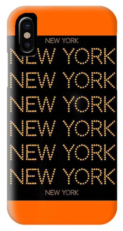 New York IPhone X / XS Case featuring the digital art New York No 3 by LogCabinCottage