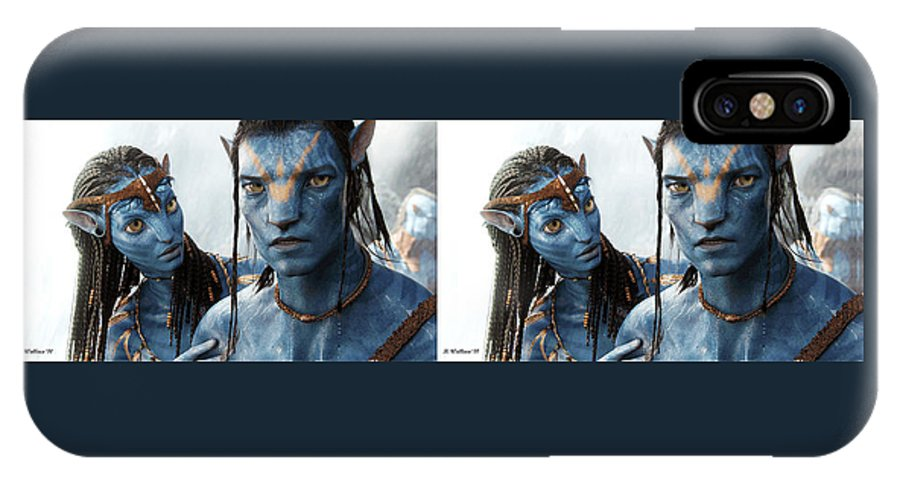 3d IPhone X Case featuring the photograph Neytiri And Jake - Gently Cross Your Eyes And Focus On The Middle Image by Brian Wallace