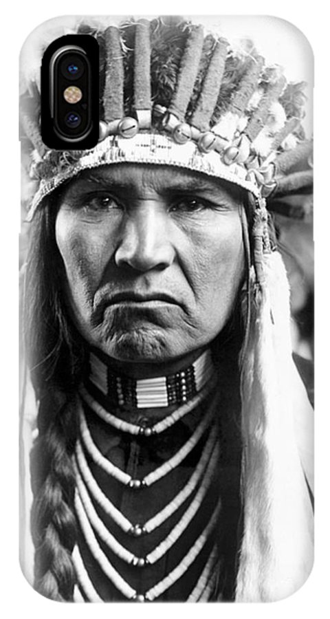 1910 IPhone X Case featuring the photograph Nez Perce Native American by Edward Curtis