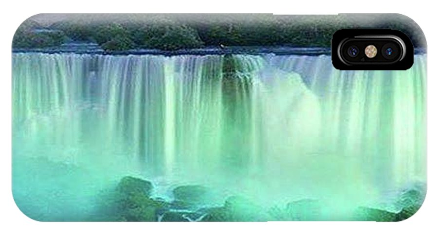 Waterfalls IPhone X Case featuring the photograph Niagra Falls, Ontario, Canada by Darla Hershey