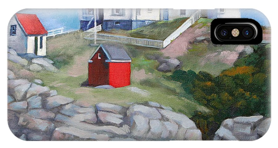 Light House IPhone X Case featuring the painting Nibble Light by Michael McDougall