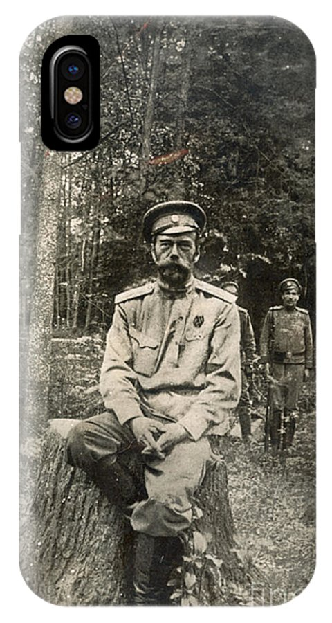1917 IPhone X Case featuring the photograph Nicholas II (1868-1918) by Granger