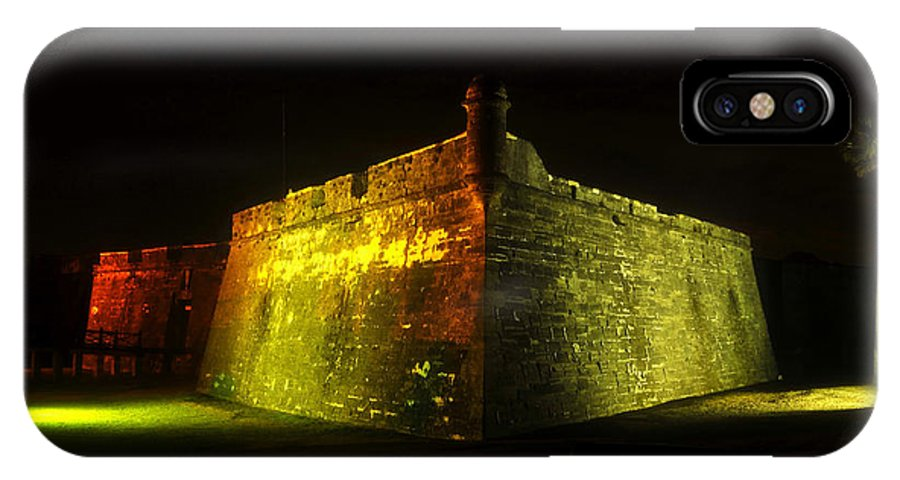 Castillo De San Marcos IPhone X Case featuring the photograph Night At The Castillo by David Lee Thompson