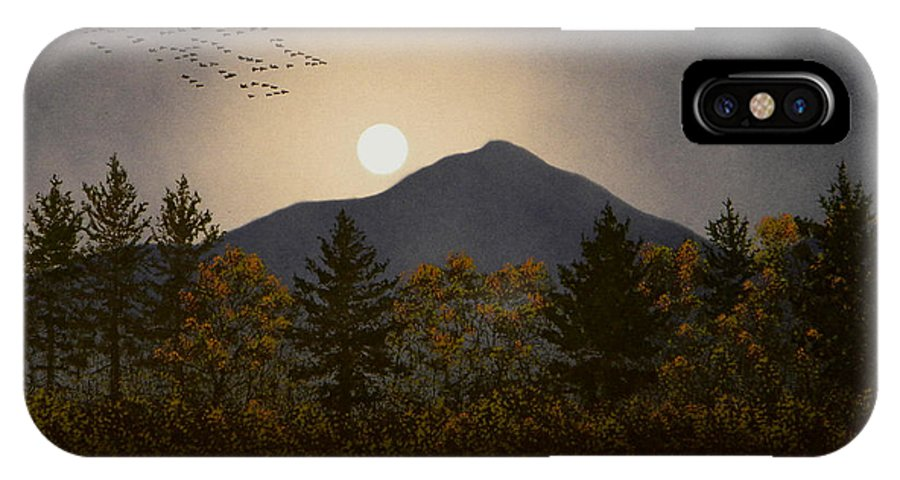 Mountains IPhone X Case featuring the painting Night Calls by Frank Wilson