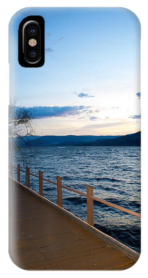 Interior Design IPhone X Case featuring the photograph Night Falls by Lisa Knechtel