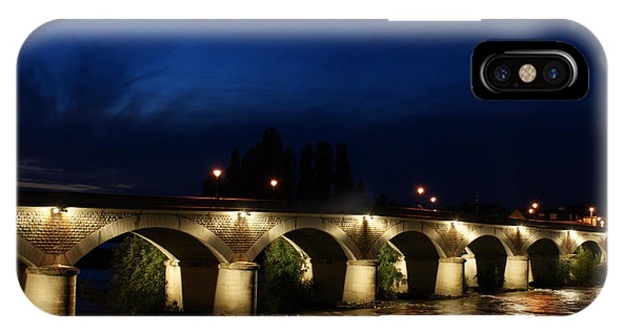 Bridge IPhone X Case featuring the photograph Night In Amboise by Christine Jepsen