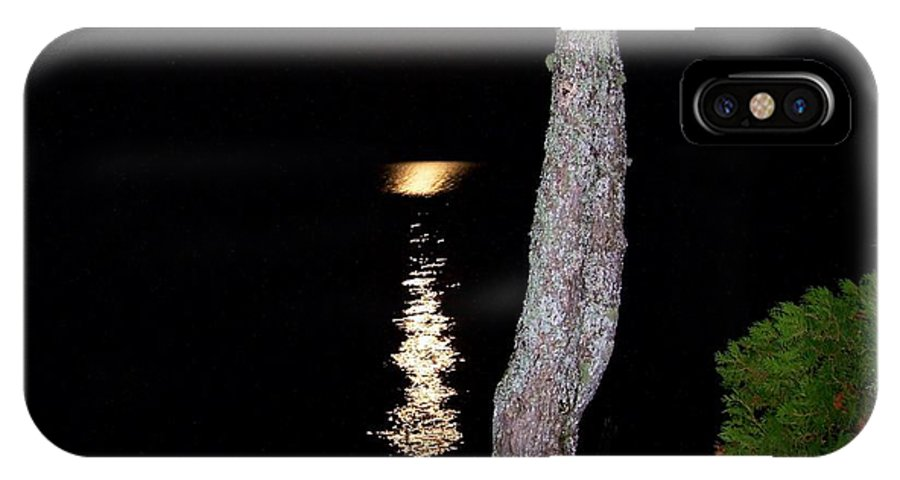 Moonlight IPhone X Case featuring the photograph Night Light by Linda Galok
