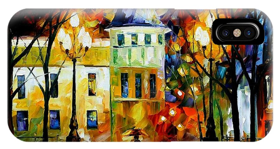 Afremov IPhone X Case featuring the painting Night Magic by Leonid Afremov