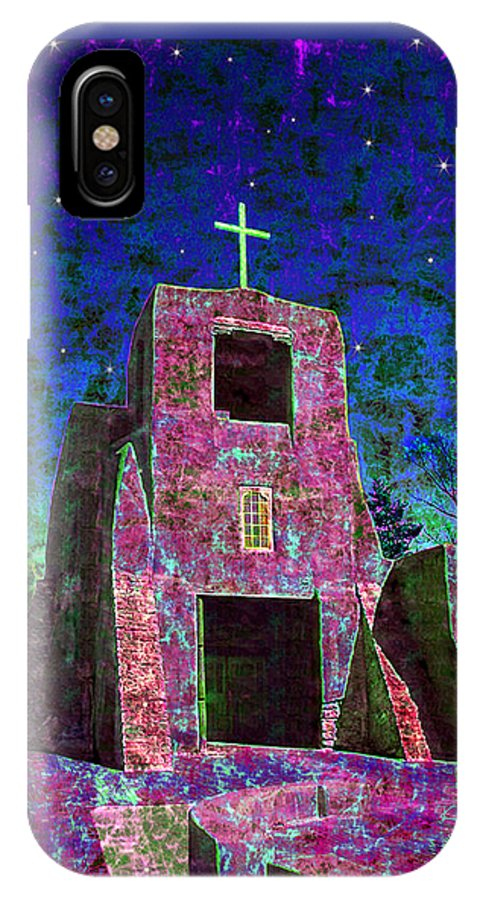 Mission IPhone X Case featuring the photograph Night Magic San Miguel Mission by Kurt Van Wagner