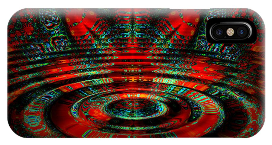 Ripple IPhone X Case featuring the digital art Night Moves by Robert Orinski
