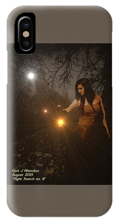 Announcement IPhone X / XS Case featuring the painting Night Search No. 8 H A by Gert J Rheeders