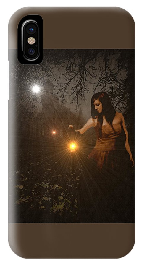 Announcement IPhone X / XS Case featuring the painting Night Search No. 8 H B by Gert J Rheeders
