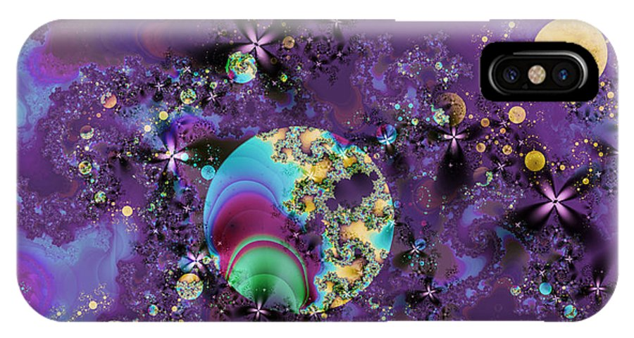 Abstract IPhone Case featuring the digital art Night Sky by Frederic Durville