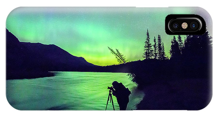 Glacier National Park IPhone X / XS Case featuring the photograph Night Sky Photographer by Blake Passmore