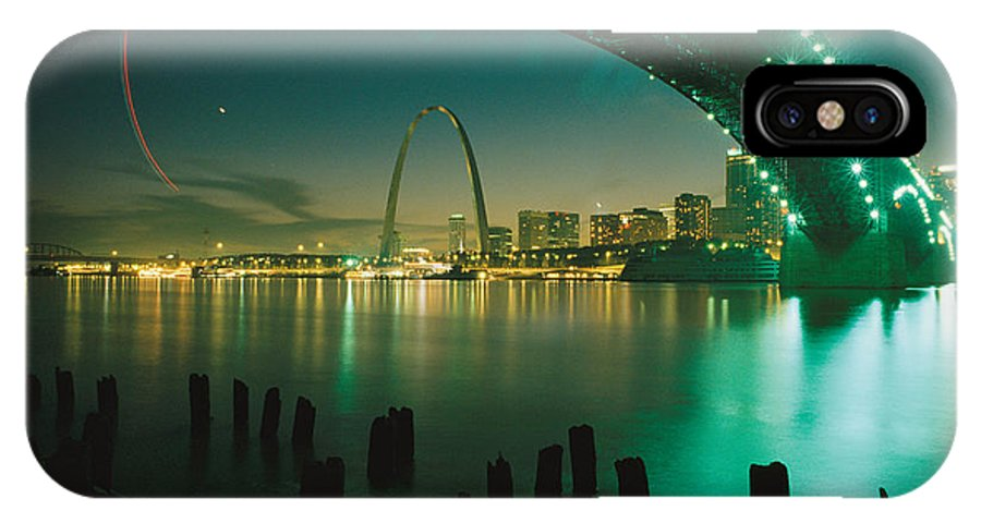 North America IPhone X / XS Case featuring the photograph Night View Of St. Louis, Mo by Michael S. Lewis