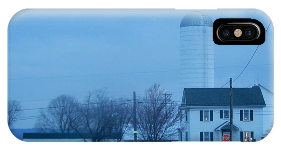 Amish IPhone X Case featuring the photograph Nightfall by Christine Clark
