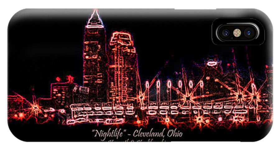 Cleveland IPhone Case featuring the photograph Nightlife by Kenneth Krolikowski