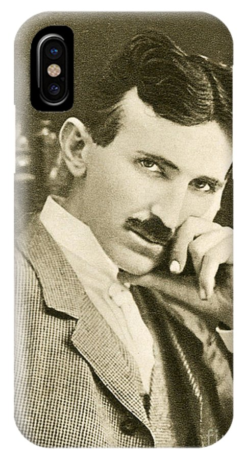 Science IPhone X Case featuring the photograph Nikola Tesla, Serbian-american Inventor by Photo Researchers
