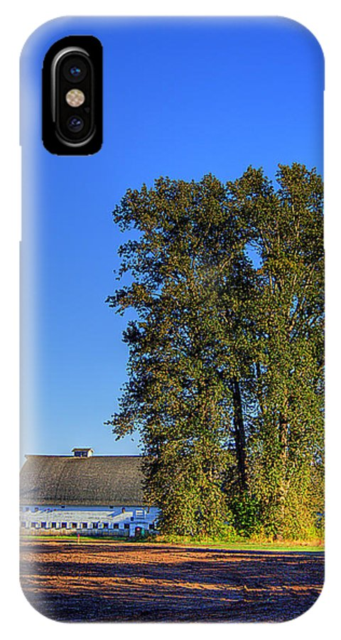 Nisqually IPhone X Case featuring the photograph Nisqually Barn by David Patterson