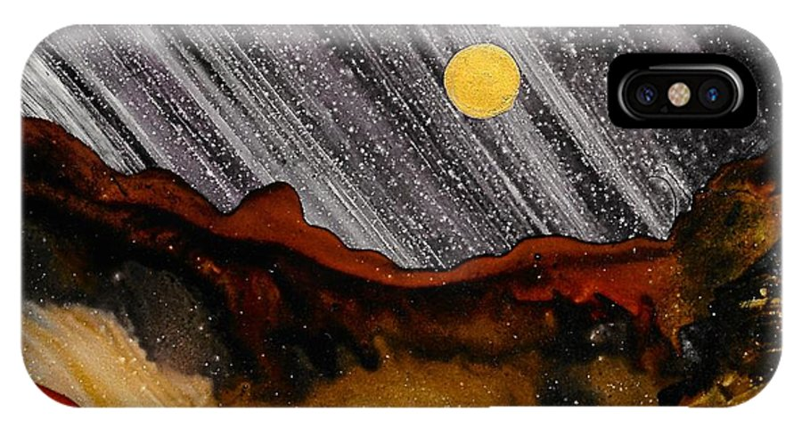 Landscape IPhone X / XS Case featuring the painting No. 23 by Jen Amaya