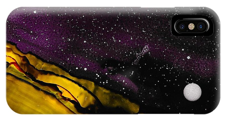 Landscape IPhone X / XS Case featuring the painting No. 34 by J Amaya