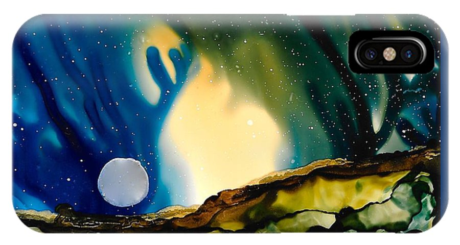 Landscape IPhone X / XS Case featuring the painting No. 36 by Jen Amaya