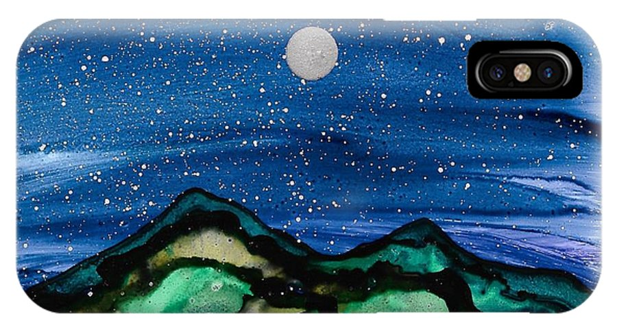 Landscape IPhone X / XS Case featuring the painting No. 38 by Jen Amaya