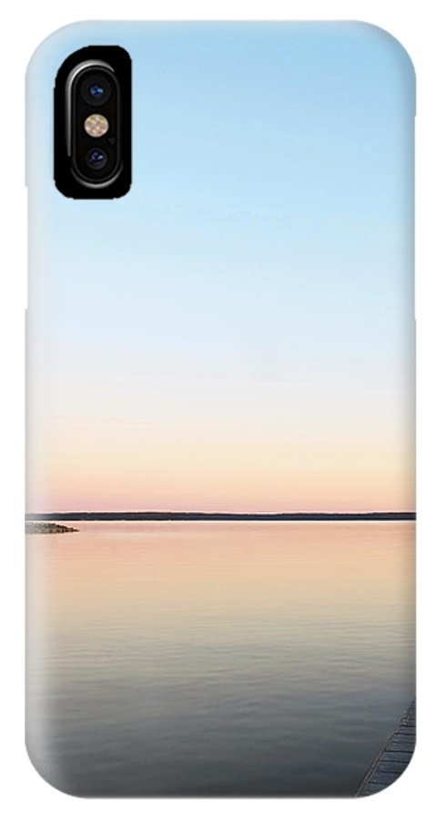 Landscape IPhone X Case featuring the photograph No Fishing by Ken Howard