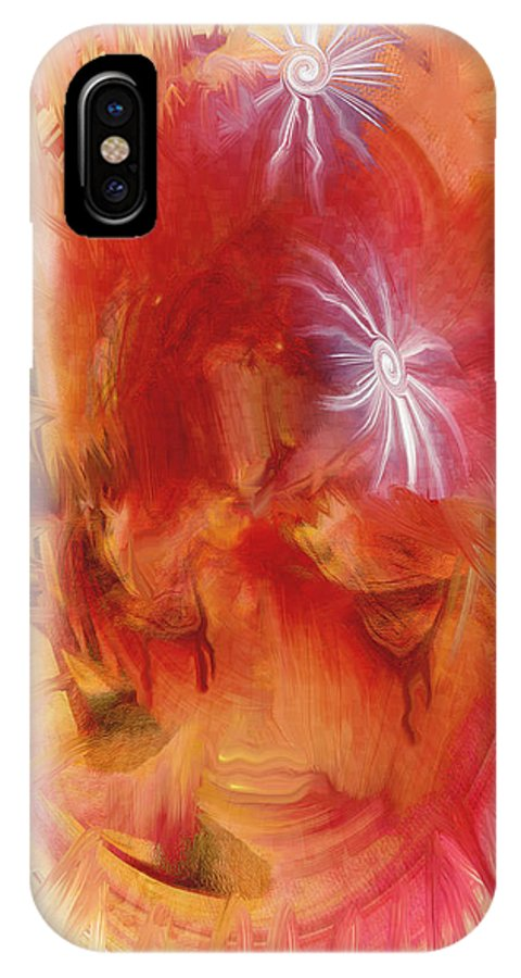 Tears IPhone X Case featuring the digital art No More Tears by Linda Sannuti