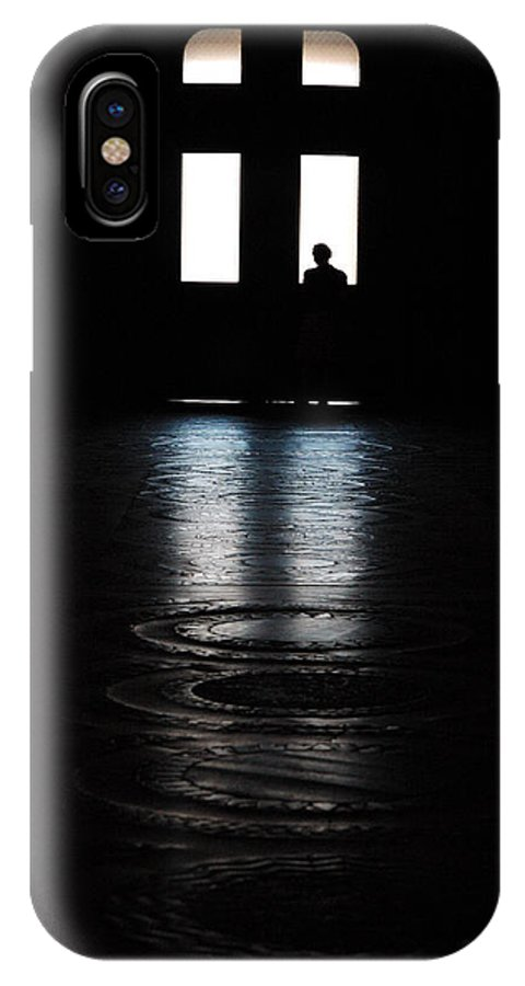 Man And Cross Backlight IPhone X Case featuring the photograph No Title by Diego Bonomo